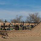 Old St Jerome Church - Taos Pueblo, New Mexico by Bob  Perkoski
