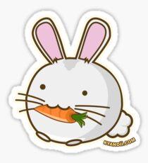 Fuzzballs Bunny Carrot Sticker