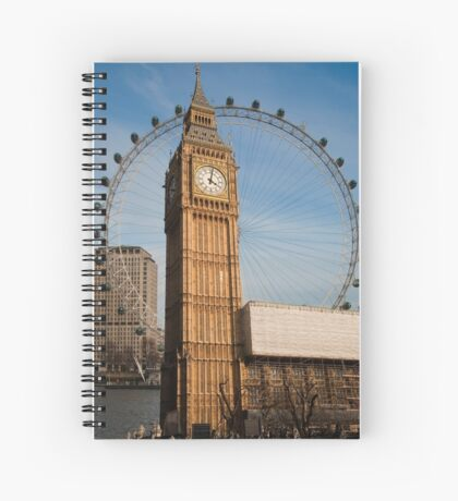 The Two Eyes of London Spiral Notebook