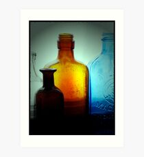 Bottles Art Print