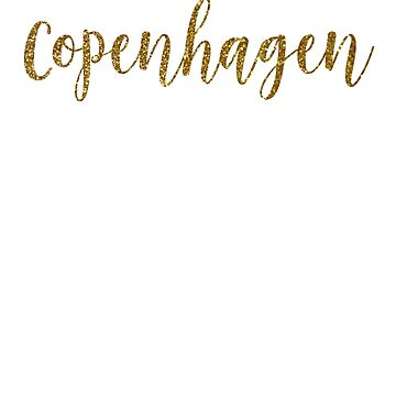 Copenhagen Gold Denmark by TrevelyanPrints