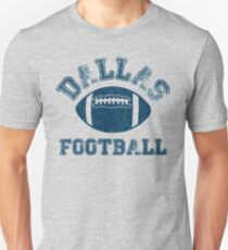 Dallas Distressed Pro Football Team Sweatshirt Slim Fit T-Shirt