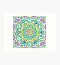 Colors and Bows Fall Into Winter Design Collection at Green Bee Mee Art Print