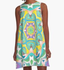 Colors and Bows Fall Into Winter Design Collection at Green Bee Mee A-Line Dress