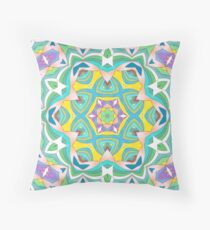 Colors and Bows Fall Into Winter Design Collection at Green Bee Mee Throw Pillow