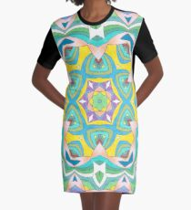 Colors and Bows Fall Into Winter Design Collection at Green Bee Mee Graphic T-Shirt Dress