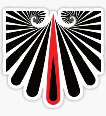 Muster Spirale Schwarz Rot Sticker