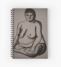 Charcoal Nude4 Spiral Notebook