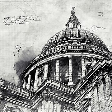 St Paul's Cathedral London Blueprint Modern Decor by Loredan