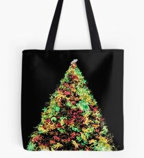 Christmas Tree Illustration Tote Bag