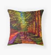 Shady Path in Keukenhof Throw Pillow