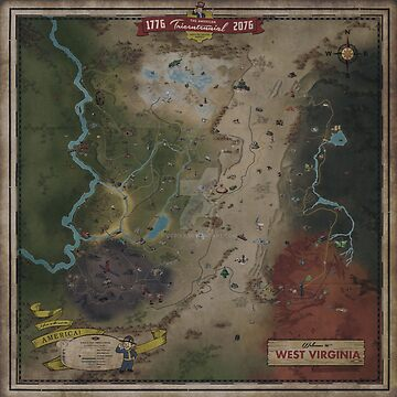 Fallout 76 Map (West Virgina) by Reliantbunion72