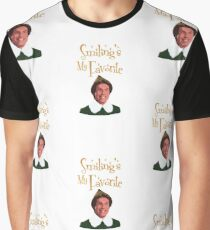 Buddy The Elf - Smiling's My Favorite Graphic T-Shirt