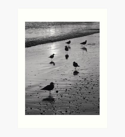Beach gathering Art Print