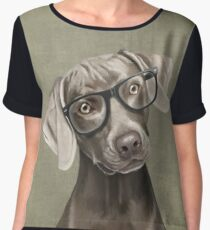 Mr Weimaraner Chiffon Top