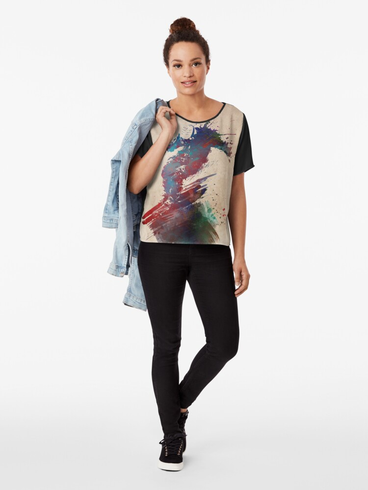 Alternative Ansicht von Ski #ski #sport Chiffon Top