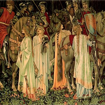 """Edward Burne-Jones """"Holy Grail Tapestry -The Arming and Departure of the Knights"""" by ALD1"""