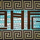 Ancient History Fangirl Mosaic Logo: Dark by AncientHistFan