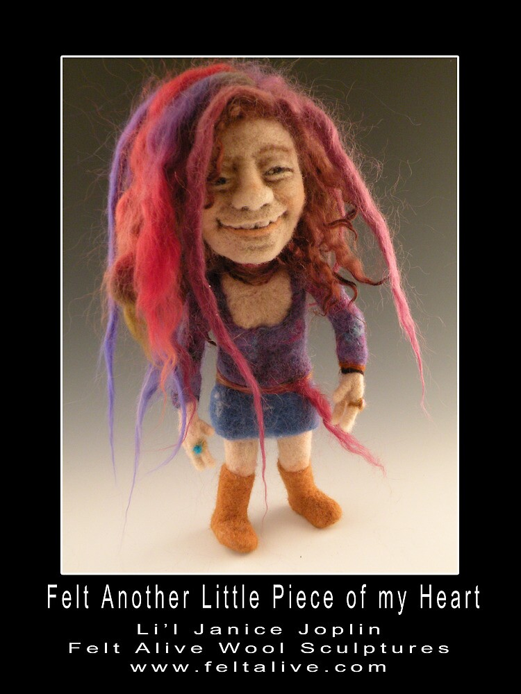 Li'l Janice - Needle Felted Art Doll by feltalive