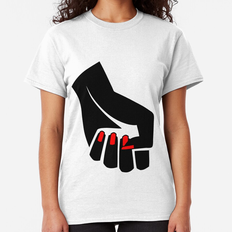 The woman's raised fist 4 Classic T-Shirt