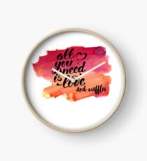All You Need Is Love and Waffles Clock