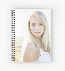 Portrait in the sun Spiral Notebook