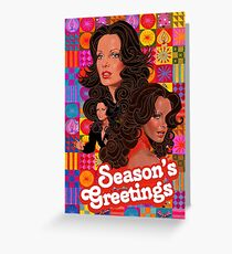 season's greetings Kelly Greeting Card