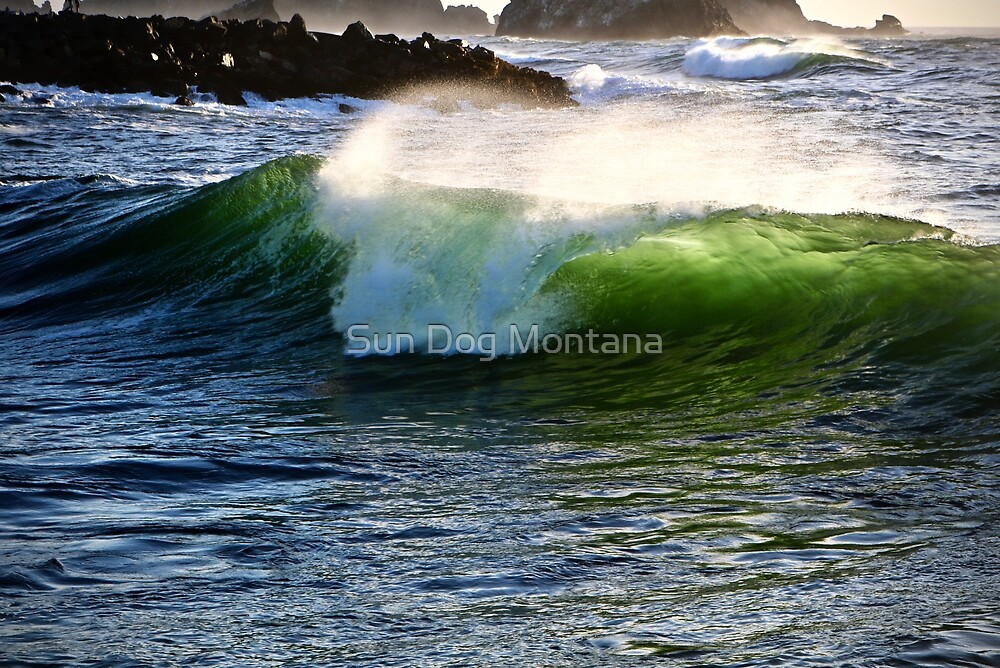 Green Pacific Wave by Sun Dog Montana
