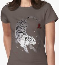 Candle Flies Tiger Womens Fitted T-Shirt