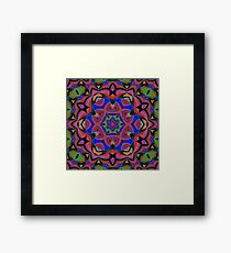 Inverted Colors and Bows Fall Into Winter Design at Green Bee Mee Framed Print