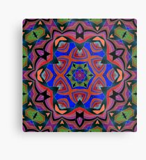 Inverted Colors and Bows Fall Into Winter Design at Green Bee Mee Metal Print