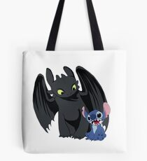 Stitch and Toothless Tote Bag