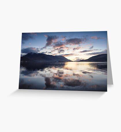 Ballachulish Sunset Greeting Card