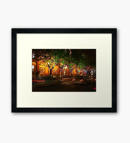 Shanghai nights Framed Print