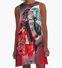 S. Vettel A-Linien Kleid