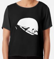 Starman In Space Tesla Roadster Chiffon Top