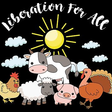 Vegan Animals Liberation Cute Cartoon Gift by UltimateTWorld