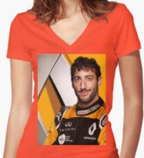 Renault Daniel Ricciardo Women's Fitted V-Neck T-Shirt
