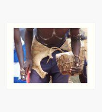 Drum beat, Uganda Art Print