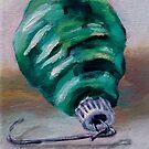 Green Shiny Brite Ornament by Pamela Burger