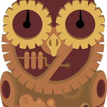 Steampunk Owl Machine by Loredan