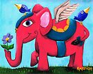 Pink Flying Elephant by Kayleigh Walmsley
