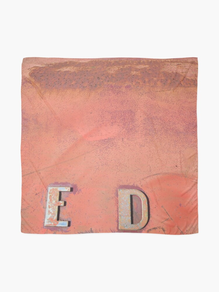 Alternate view of Red ED Scarf