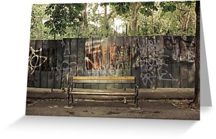 croatian graffiti love seat by meanderthal
