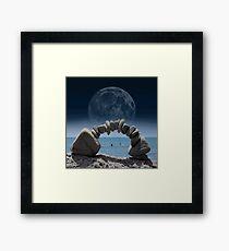 Ocean View Through Rock Arch  Framed Print