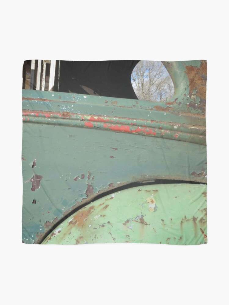Alternate view of Green and Rust Car #1 Scarf