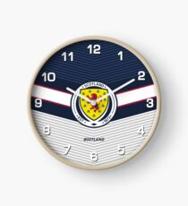 Scotland Football | Scottish Football Association | Logo Design - Pillow | Phone Case | Tablet | T Shirt | Duvet | Mug | Clock | Poster | Home Decor and more Clock