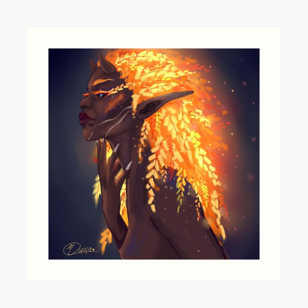 Fuego de hadas Lámina artística