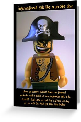 International Talk Like a Pirate Day Greeting Card (September 19th) by Customize My Minifig