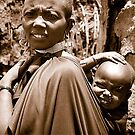 Maasai mother  by Joozu